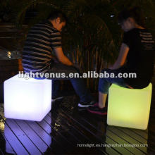 Material de PE, Colorido LED Cubo