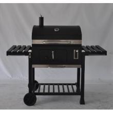 Barbecue à charbon au barbecue avec bouclier de vent