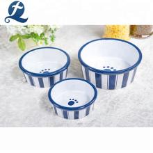 Wholesale Custom Logo Glazed Decal Pet Food Bowl Ceramic Dog Bowl