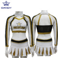Custom Gold All Star Cheerleader Uniformen