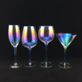 Bubble White Wine Glass with Colorful Plating