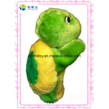 Funny Plush Green Turtle Puppet for Kids Toy Supplier