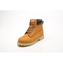Hot Sell Yellow Nubuck Leather & PU Safety Shoes (LZ5003)