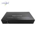 Slots 2SFP + 4 portas Ethernet Gigabit Conversor de Mídia de Fibra Óptica