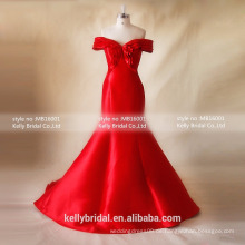 MB16001 Besondere Anlässe Kleider 2016 Red Brautkleid Kurzarm Brautkleid / Abendkleid Vendors