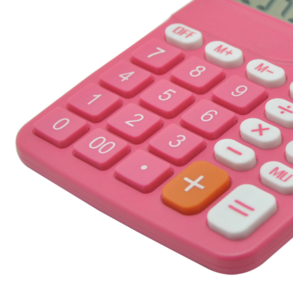 Colorful Office Desktop Calculator with Big Keyboard
