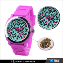 Customized watch quartz stainless steel back watch
