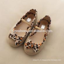 Lovely girls robe chaussure élastique enfants école chaussure princesse ballet appartements