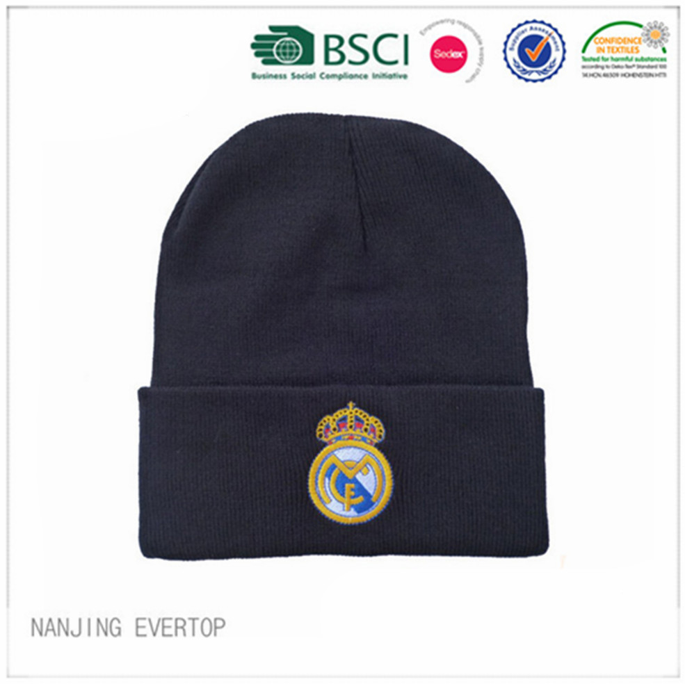 Özel Real Madrid nakış Futbol Fan Toque