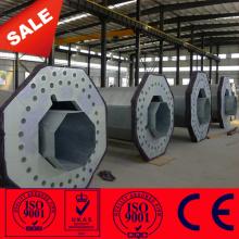 Transmisión de poste eléctrico de acero galvanizado