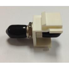 St Simplex Adaptateur à fibre optique avec adaptateur à fibre optique Snap-in