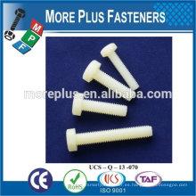 Hecho en Taiwán Tornillo de nylon de alta calidad del tornillo del color blanco de la alta calidad del tornillo