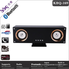 BBQ KBQ-169 25W Bass speaker 4inch * 2 promotional retro radio bluetooth lautsprecher