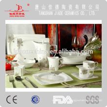 Rodada cupê forma Paquistão estilo indiano 97pcs novo osso china cerâmica alemã jantar conjunto porcelana estoque lote