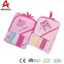 100% Cotton Material customized Size Baby Bath Hooded Towel
