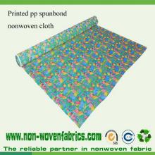 Tissu non tissé de Spunbond de tissu de pp Spunbond imprimé