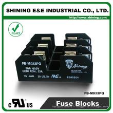 FB-M033PQ UL approuvé égal à la base de fusible en porcelaine de 3 polets Bussmann 30o