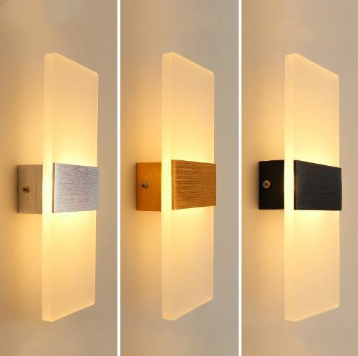 Acrylic 6w Decorative Bedside Wall Lights