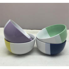 5,5 '' Zwei Farbe Ec-Friendly Porzellan Keramik Dinner Bowl