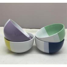 5.5 '' Двухцветный Ec-Friendly фарфоровая керамическая чаша для обеда