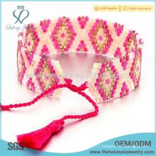 Unique Bohemia seed bead wrap bracelets,beaded rope wrap bracelet