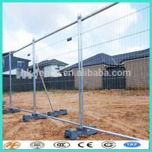 Paneles de valla de metal verde temporal de Australia con conectores