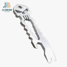 Abrebotellas de encargo del cráneo de la aleación de zinc del regalo promocional al por mayor en metal