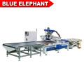 Fornecimento de fábrica de madeira painel de móveis gabinete melhor preço cnc máquina de assentamento com auto sistema de carga e descarga