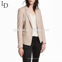 Desgaste de oficina de las señoras del color desnudo de la alta calidad chaqueta del juego de la manera del estilo ocasional