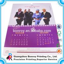2018 y 2019 impresión personalizada de calendario de pared y mesa