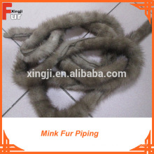 Light Brown Real Mink Fur Trimming
