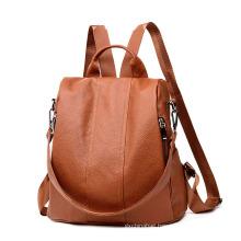 China supplier fashion waterproof women mini large capacity pu leather school backpack