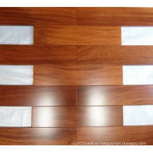 Suelo de madera de iroko preacabado grado AB
