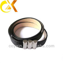 fashionable leather bracelet with metal