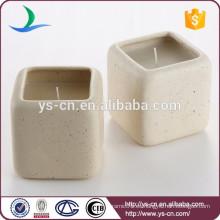 Candelabro de cerámica de la vela de la vela del cuadrado para el hotel
