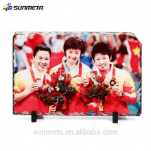 blank Rock Slate Photo Frame for sublimation printing with coating whole sale