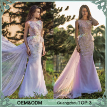 Neueste Design formale Abendkleid net Frock Design Pop Line Abendkleider lila vestidos de Fiesta Abendkleid