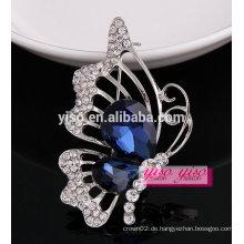 Luxuriöse beste Verkauf charmante Schmetterling Kristall Brosche