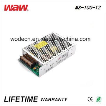 Driver do diodo emissor de luz do anúncio de MS-100 SMPS 100W 12V 8A