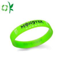 O melhor silicone vazio verde-claro cria o bracelete feito sob encomenda