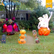 Casa de calabaza de gato de Halloween Espíritu Espíritu Negro Inflables Decoraciones de Halloween