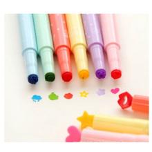Pronotional Candy Color Sello Pluma Fluorescente, Multi Color Marker Pen