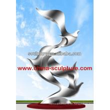 Edelstahl Kunst Skulptur Outdoor Skulptur berühmten Skulptur