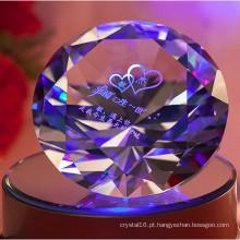 Diamante colorido gravado Diamante brilhante cristal