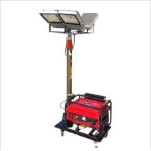 Mini torre de luz de empuje manual