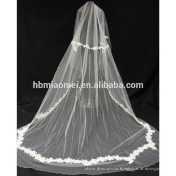 Кружевной ткани высокое качество цветочный отделка кружева свадебная фата для невесты