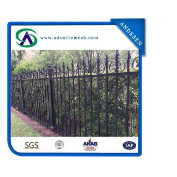 Сварная коммерчески декоративная стальная ограда / декоративная металлическая ограда