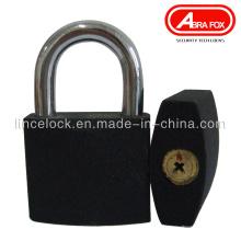 Candado de hierro gris, candado de hierro negro con clave de cruz (303A)