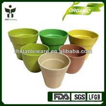 Plant Fiber Flower Pot Biodegradável Flower pot Casca de arroz de bambu