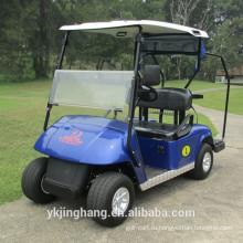 двух местный электрическая тележка гольфа с подставкой сумка для гольфа